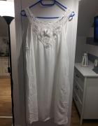 biała sukienka w stylu BOHO zara