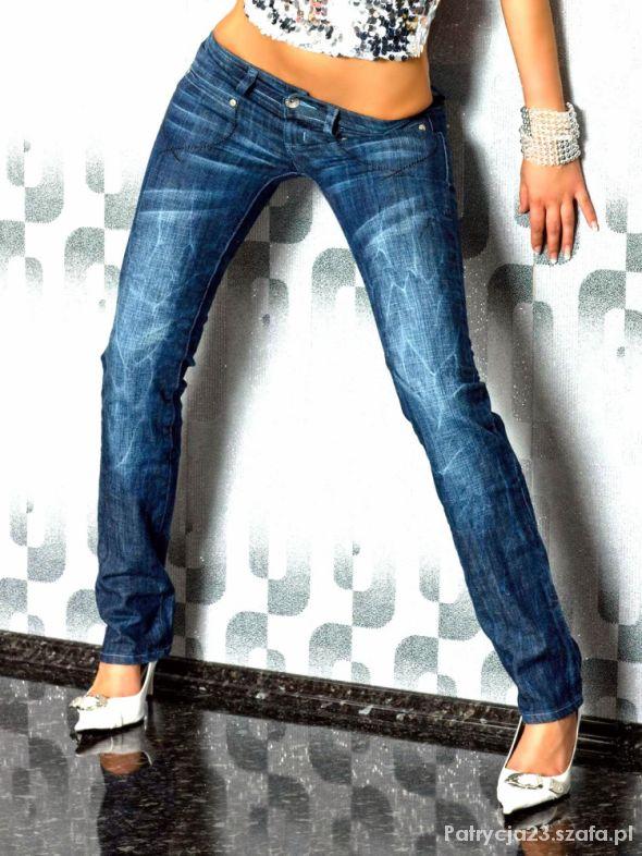 BT JEANS przepiękne cieniowane jeansy rozm M