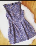 Sukienka Zara tulipan bombka fiszbiny floral rozm M...