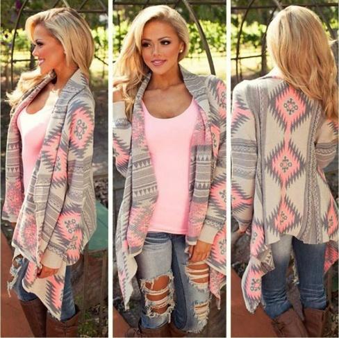 Swetry z motywem aztec