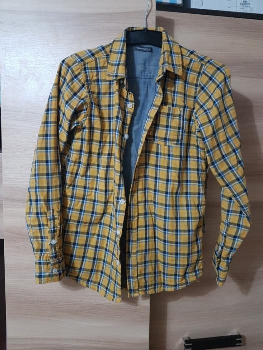 Żółta koszula w kratę dla chłopca 12 lat rozmiar 152...