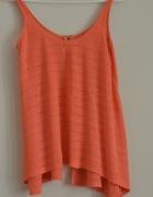 Pomarańczowa bluzka na ramiączkach 36 Zara...