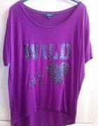 T shirt oversize napis wild at love rozmiar 36...