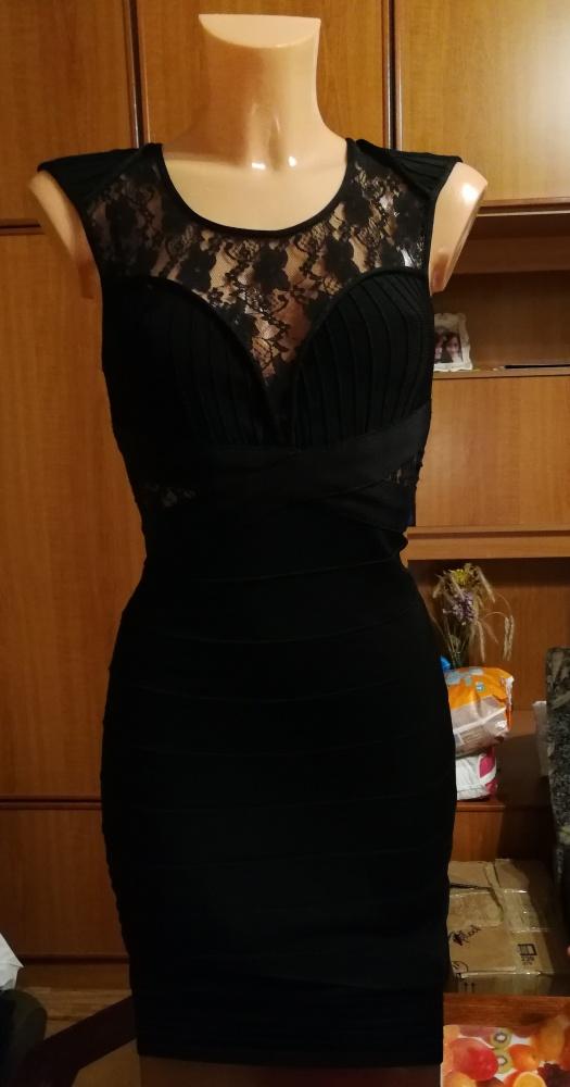 Suknie i sukienki Piękna sukienka bandażowa czarna Bershka S NOWA z metkami