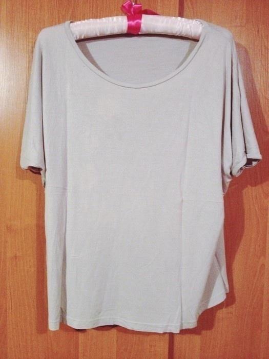 Bluzki 3 RZECZ GRATIS beżowa bluzka oversize Butik 38 M