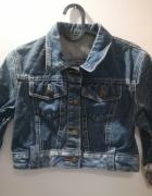 Kurtka jeansowa krótka rozmiar XS rękaw z motywem