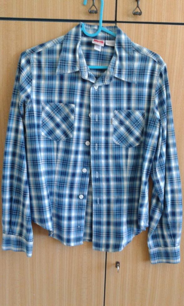 Niebieska koszula w kratę Levis M...