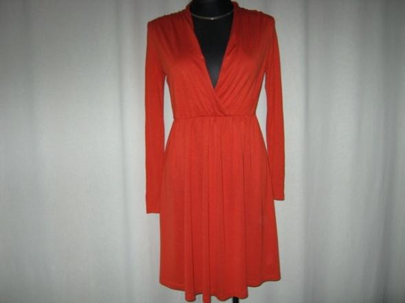 ceglasta sukienka S