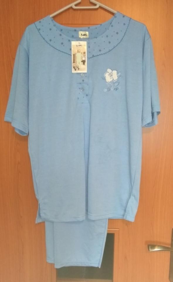 Nowa niebieska piżama długie spodnie bluzka krótki