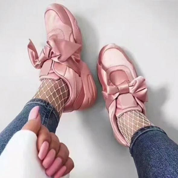 Nowe sportowe buty z kokarda hit...