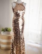 Suknia wieczorowa rozm 34 36 Mascara piękna długa...
