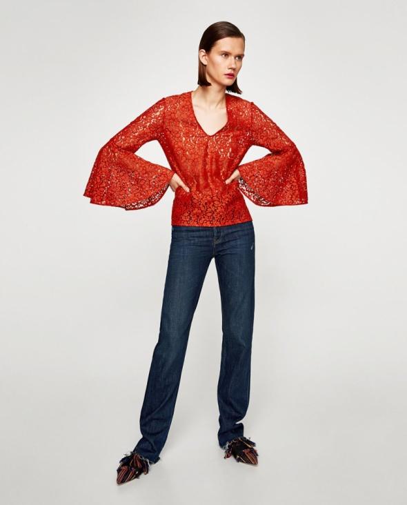 Koronkowa Bluzka marki Zara...
