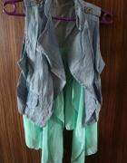 Oryginalna błękitno jeansowa kamizelka XS M...