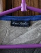 Rozpinany sweterek w pasy szaro niebieskie XS...