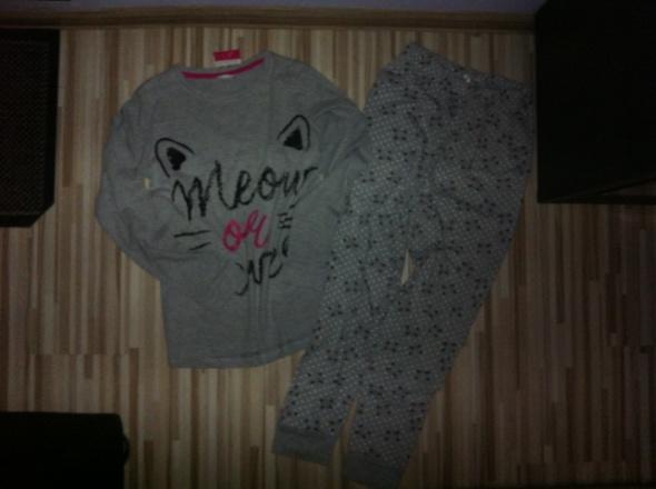 piżama 2 częsciowa szaro różowa XS 34 S 36