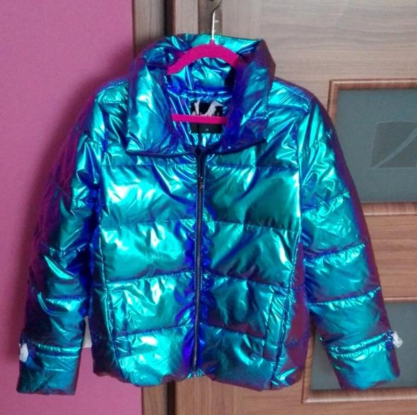 Nowa kurtka Mohito metaliczna z kołnierzem rozmiar XS