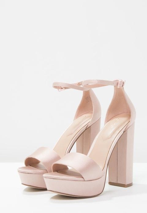 Aldo Nesida sandały na słupku różowe satyna Luna nude Lou 37