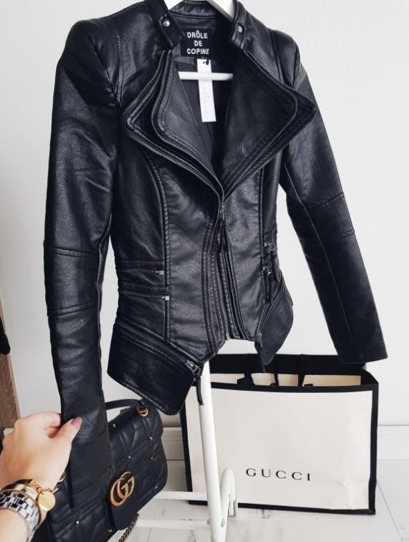 Czarna ramoneska biker jacket eko skóra