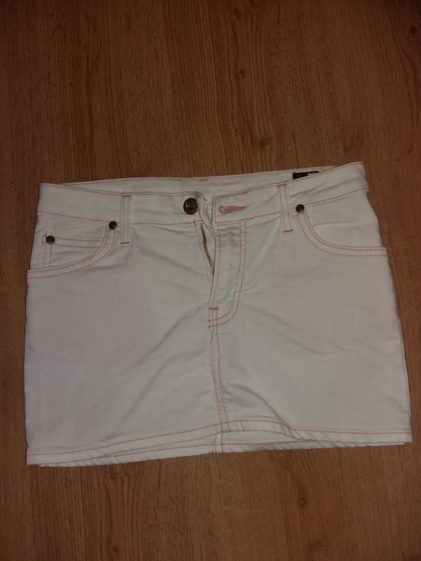 Spódniczka biała jeans Lee S...