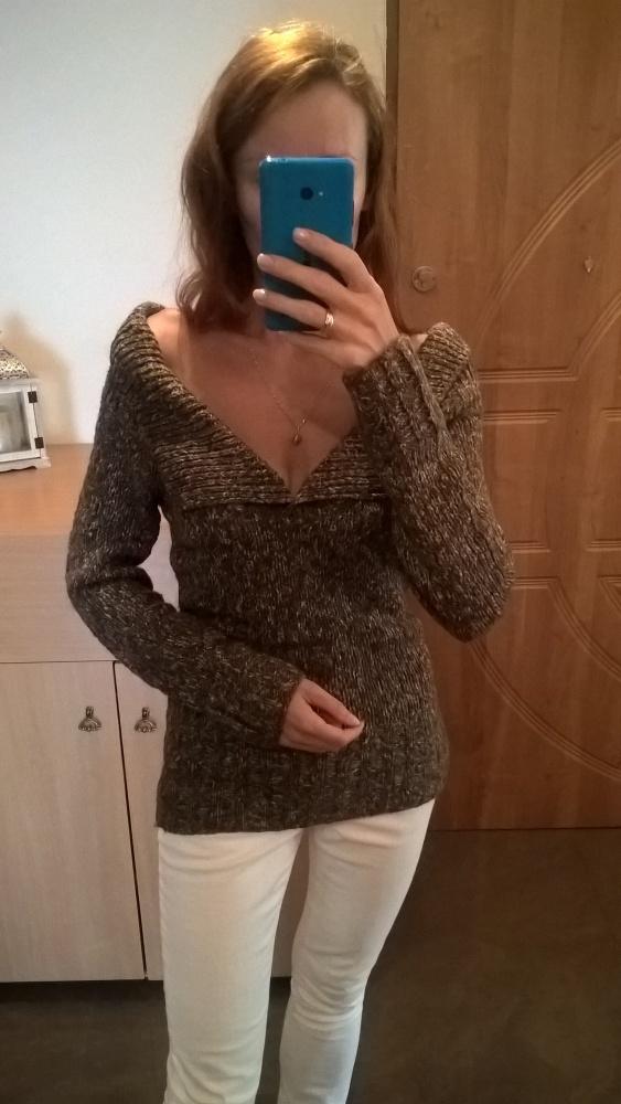 Sweterek brąz melanż