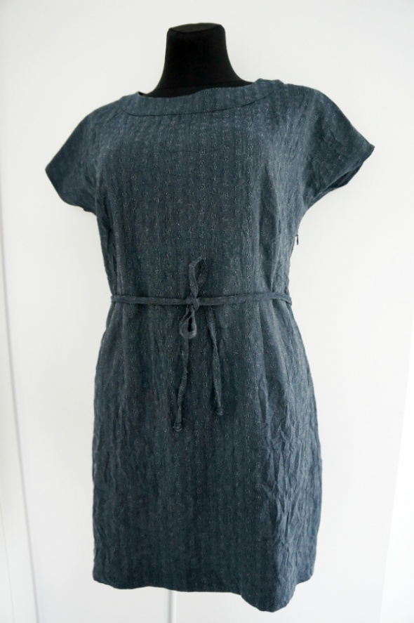 Luźna granatowa tunika mini sukienka Quiosque...