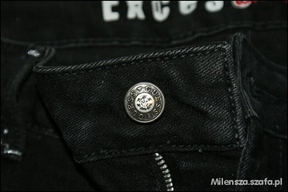 Nowe czarne oryginalne spodnie GUESS jeansy...