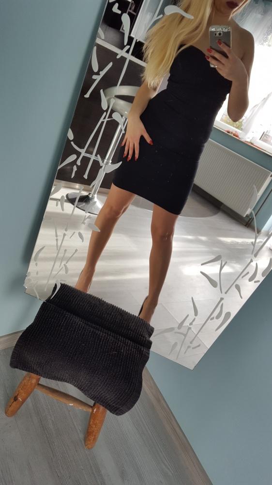czarna sukienka mini tally weijl bandage