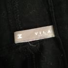 Czarna mini jeansowa zamki jak nowa Vila 38