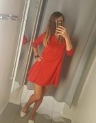 Nowa czerwona sukienka asos s...