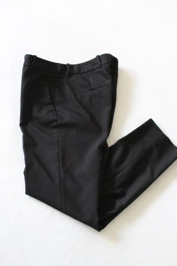 czarne spodnie materiałowe zara s