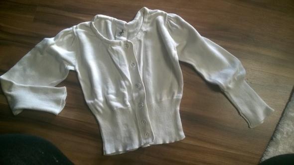r 92 Biały sweterek krysztalowe guzikielegancki...