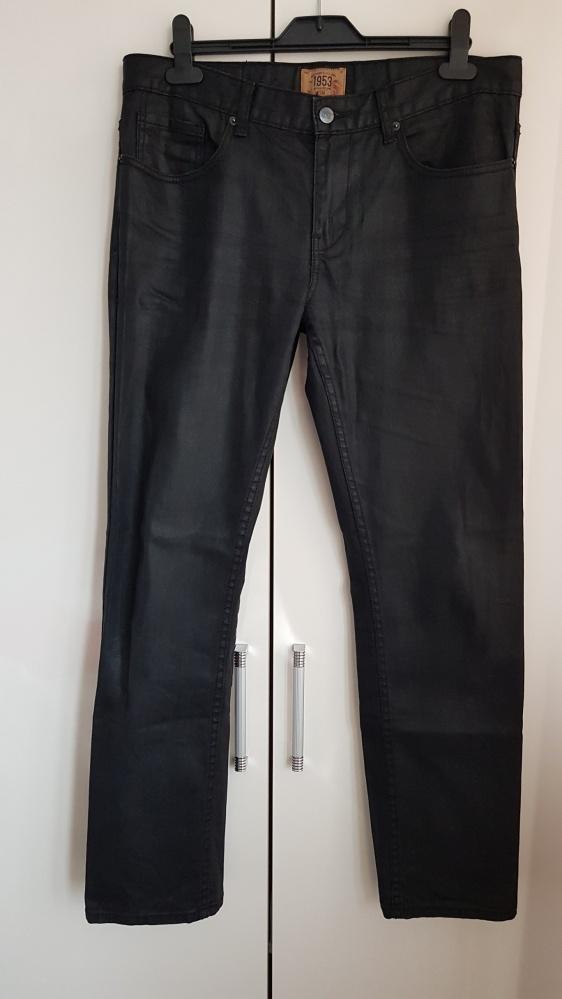 Woskowane jeansy męskie KappAhl 34 32