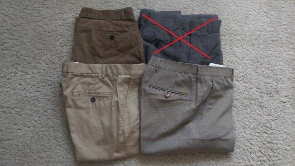 Spodnie męskie zestaw różnr w rozm M