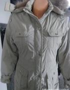 Zimowa kurtka płaszcz S M...