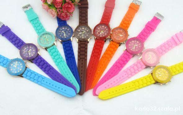 Zegarek GENEVA jelly unisex nowy 4 kolory