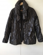 kurtka watowana a la puchówka czarna ciepła zimowa XL L...