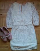 koronkowa biała sukienka Reserved...