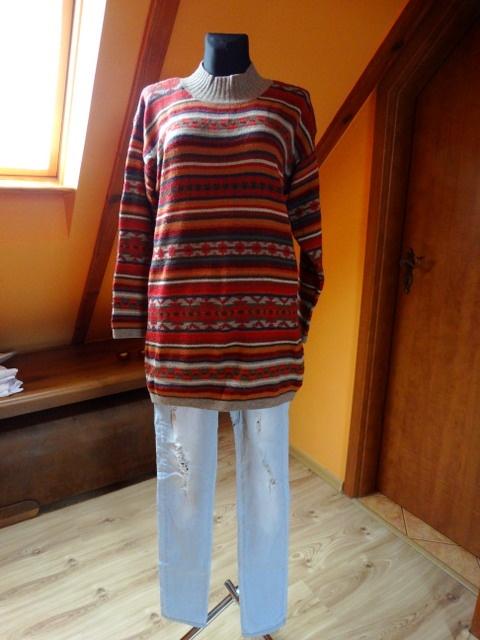 swetr wzorek kolory jesieni...