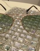 Okulary przeciwsłoneczne zielono fioletowe...