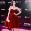 Najmodniejsza welurowa sukienka czerwona studniówk...