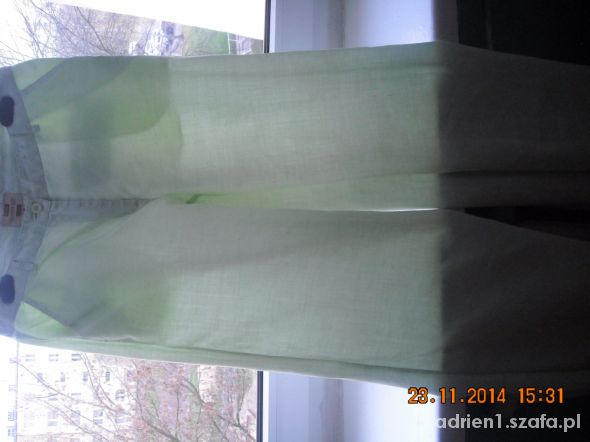 Jasno zielone spodnie CARRY 38 M...