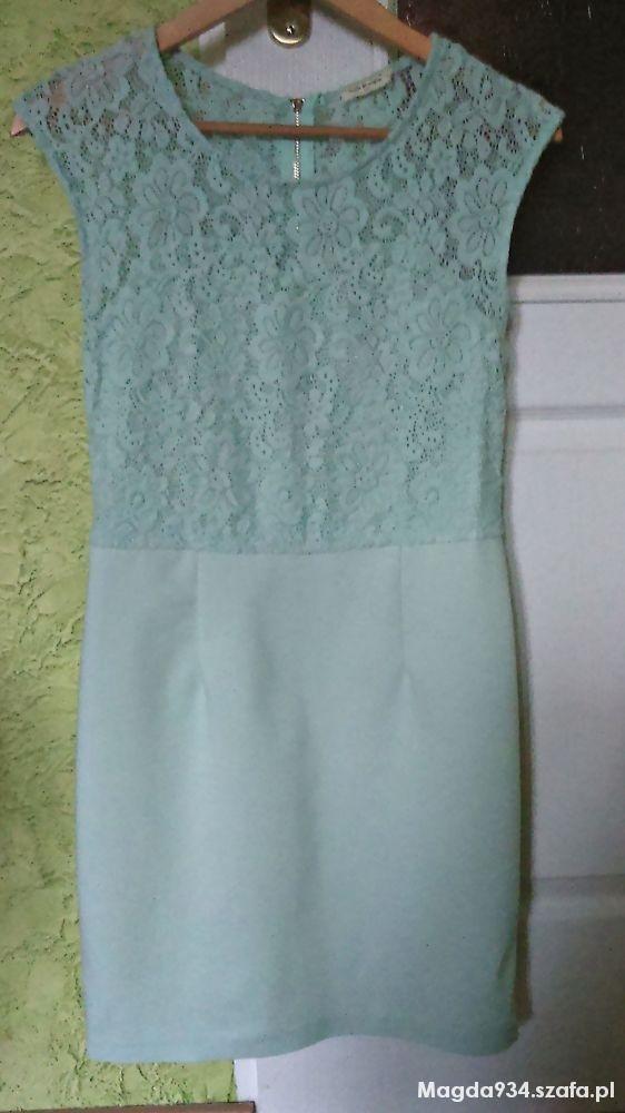 sukienka miętowa m