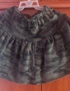 Spódniczka spódnica dresowa dres moro ciepła