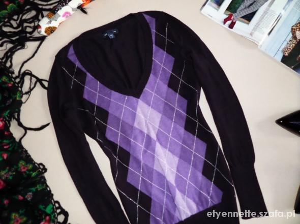 34 GAP sweterek ROMBY elegance...