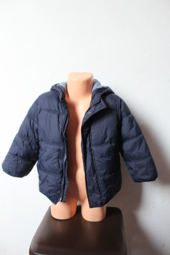 Granatowa chłopięca ocieplana kurtka zimowa 2 3 lata