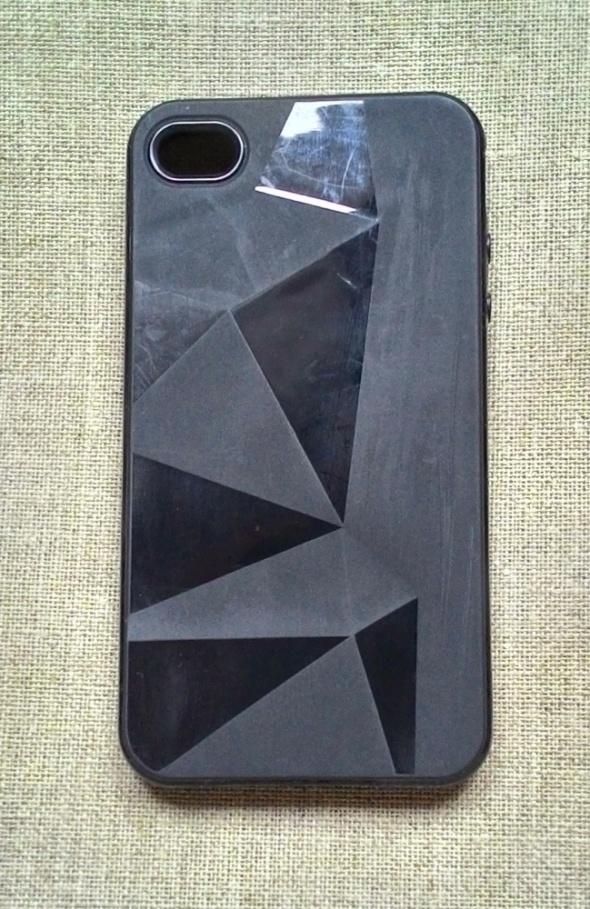 Nowe etui case iPhone 4 4S czarne silikonowe geome