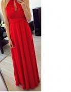 Czerwona sukienka na wesele ślub studniówkę itd...