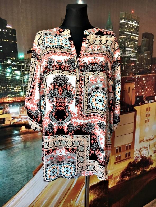 paco boutigue bluzka modny wyszczuplający wzór ornament 48