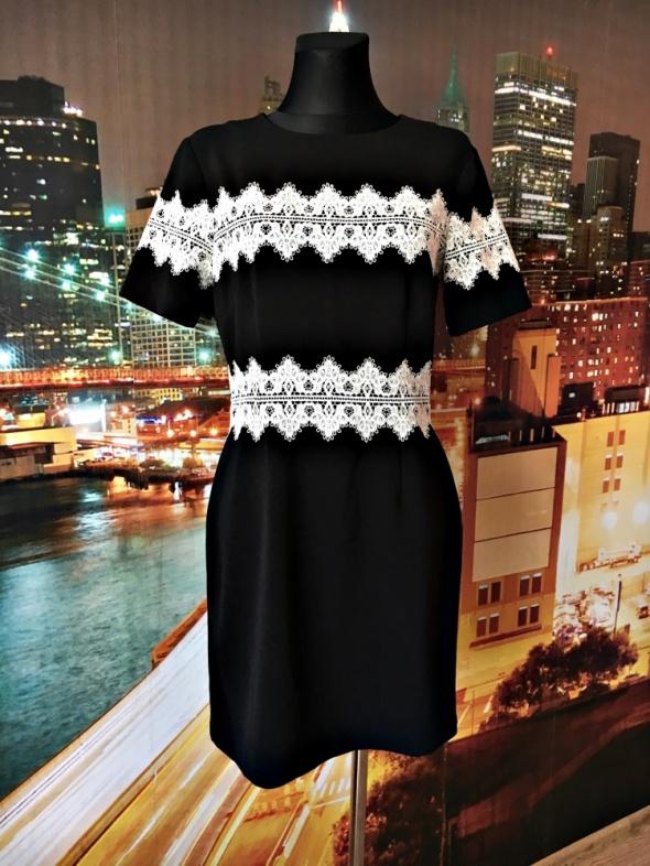h&m sukienka mała czarna ołówkowa koronka hit blog 38 M