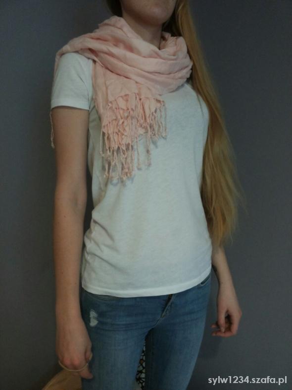 różowy szal h&m
